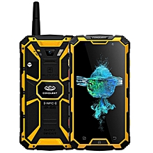 Conquest S8+, 4GB+64GB, Walkie Talkie Function, 6000mAh Battery, IP68 Waterproof Dustproof Shockproof Anti-pressure Explosion-proof, Fingerprint Identification, 5.0 inch Android 6.0 MTK6755 Octa Core up to 2.0GHz, Network: 4G, NFC, OTG, IR(Yellow)
