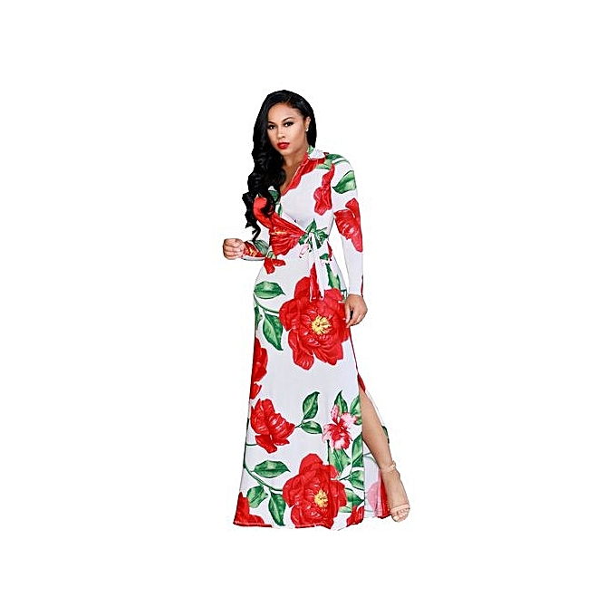 2ce3f89aca7 Fashion New Women Large Size L-5XL Fat Party Dresses Vestidos Sexy V ...