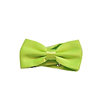 Satin Bow tie Lime Green