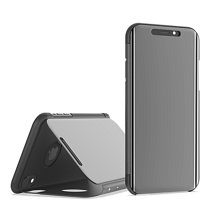 size 40 16d37 ca6c3 OnePlus 6T Case,Translucent View Mirror Case Flip Electroplate Stand Smart  Cover for OnePlus 6T 6.41