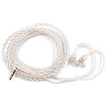 KZ Silver Plated Upgrade Wire Earbuds Cable 0.75mm Detachable Audio Cord for ZSN Earphone - SILVER-0.75MM PIN