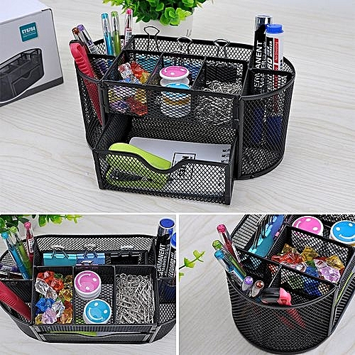 Office & School Supplies Desk Accessories & Organizer Popular Brand Desk Mesh Pen Pencil Holder Office Supplies Multifunctional Digital Led Pens Storage