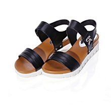 Generic Summer Sandals Women Aged Flat Fashion Sandals Comfortable Ladies Shoes  A1