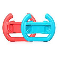 LEBAIQI 2 PCS Controller Direction Manipulate Wheel For Nintendo Switch Handle Grip red&blue