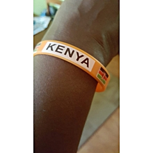 "Branded ""Glow in the dark"" Kenya custom made Wrist band"