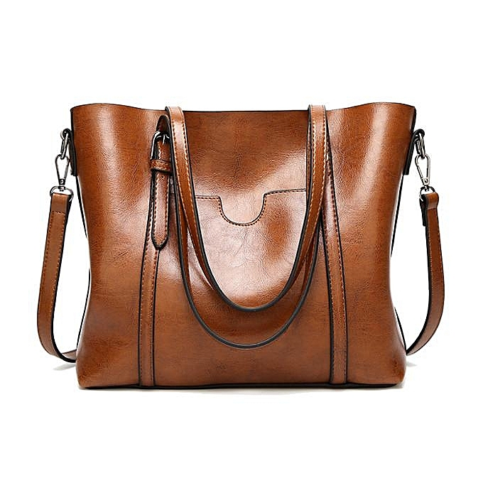58a180a73e0e 2017 new shoulder bag European and American fashion women's bag oil wax  leather ladies handbags Tote bag generation