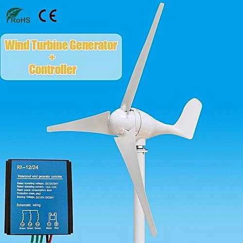 500W 12V Blades Wind Turbine Power Generator Charge Controller Home Garden
