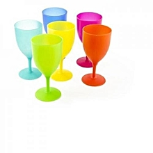 6 Pieces - Colourful Reusable Plastic Cups
