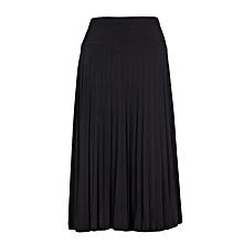Black Pleated Women's Skirt
