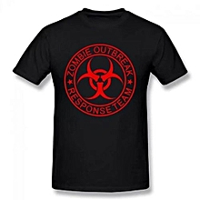 Zombie Outbreak Response Team Summer Basic Casual Short Cotton T-Shirt(Regular And Big And Tall Sizes Included)