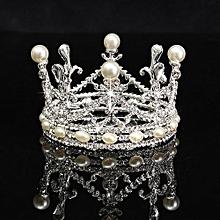 Wedding Tiara Bridal Kids Crown Pearls Crystal Rhinestone Pageant Party Headband Silver