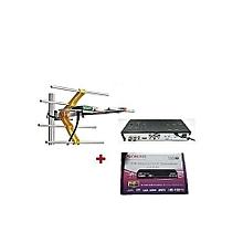 Free to Air Decoder with Digital  Aerial - Black