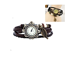 RK Fashion Faux Leather Bracelet Watch - Brown
