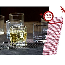 Old Style whiskey glass ware (+ Free Gift Hand Towel).