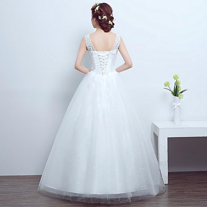AFankara Princess Lace Beach Wedding Dress Ball Gown