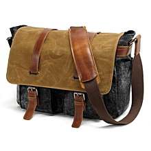HIGH Quality Muchuan Canvas/leather military shoulder laptop bag