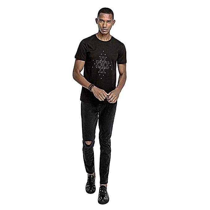 f8ba3d4a9936 Zopo Black Fashionable Slim Fit T-Shirt @ Best Price Online | Jumia ...
