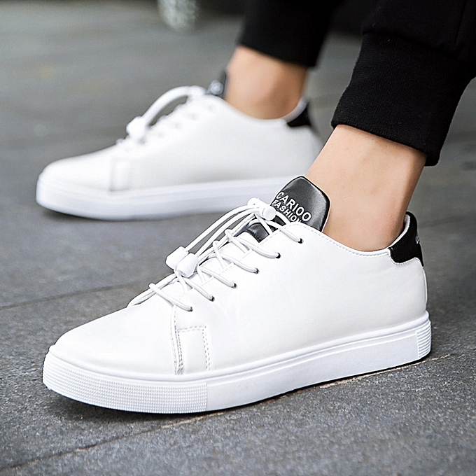 fbd09929b New Casual Shoes Mens Leather Flats Lace-Up Shoes Simple Stylish Male Shoes  Large Sizes