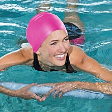 Water Resistant Silicone Swimming Cap Pink