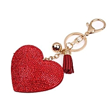 Love Rhinestone Tassel Keychain Bag Handbag Key Ring Car Key Pendant RD