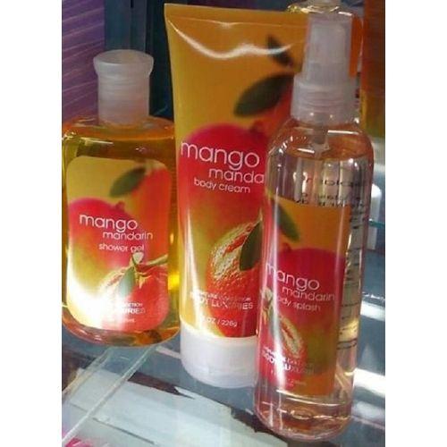 Mango Mandarin 3 in 1 Set (Body splash ,Shower gel ,Body cream)