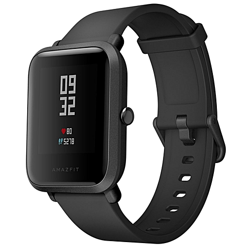 International Edition Xiaomi Amazfit Bip Lite Version Ultra-light 1.28 inch Screen Display IP68 Waterproof Smart Watch Youth Edition, Support GPS + GLONASS Compass & Heart Rate Monitor & Motion(Black)