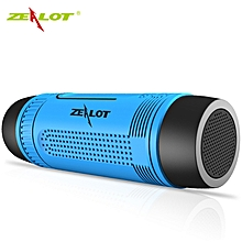 S1 3 in 1 Mode Outdoor Portable Bicycle Wireless Bluetooth Speaker with Flashlight Power Bank TF Card Slot - Blue