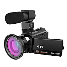 1Pcs WiFi 4K 16X ZOOM Digital Video Camera Camcorder+Microphone+Wide Angle Lens Video Recorder Registratory Camcorder Promotion LOOKFAR