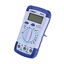 100% New LCD Digital Multimeter Ammeter Voltmeter Ohmmeter Current Tester White