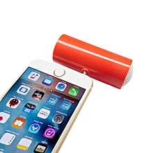 Speaker 3.5mm Music Player Stereo Speaker For iPod iPhone6 Plus Note4 Cellphone RD-Red