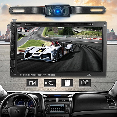 Car Double DIN 7 Inch Bluetooth Audio Car Radio Car Audio Stereo MP4 Player  USB Support for SD/DVD AUX HD Camera Touch Screen