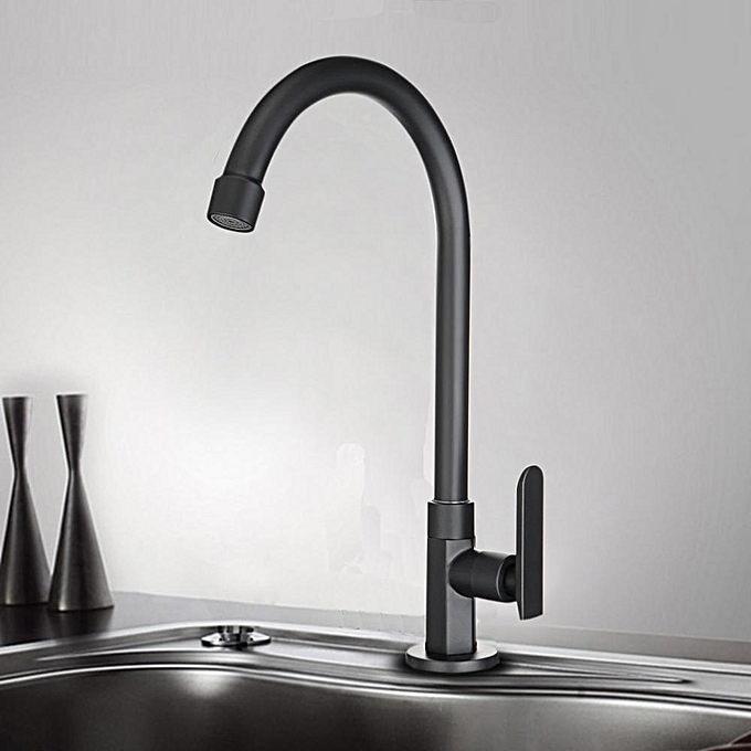 Buy Generic Holmark Black Chrome Modern Kitchen Faucet Swivel Spout