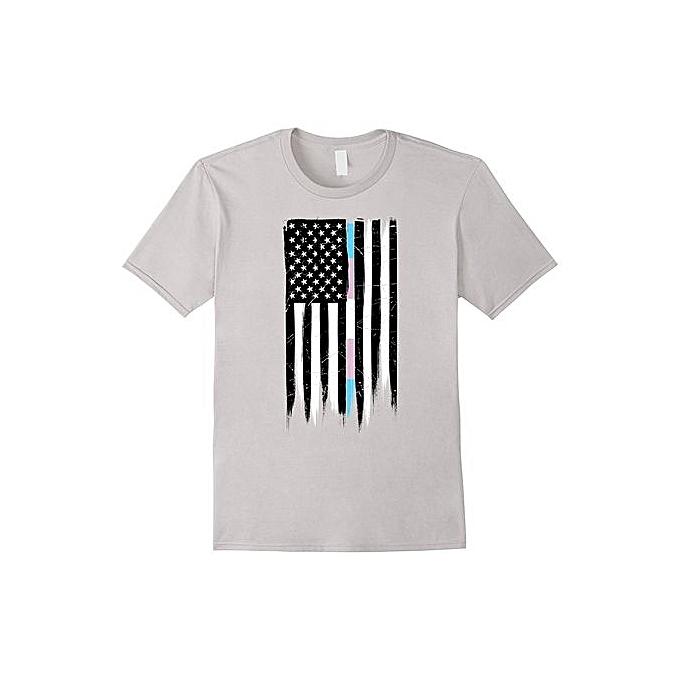 Generic Transgender Pride American Flag T Shirt Fashion O Neck Short
