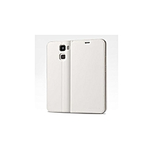 Riginal Flip Cover Protective PU Leather Case Smart Cover - White