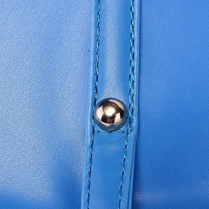 cebbfe6c6751 Leadsmart New Fashion Women PU Leather Handbag Candy Color Tote Shoulder  Bag Blue