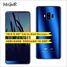 S8 5.99''18:9 Full Screen Android 7.0MTK6750T 4GB+64GB 16.0MP Face Recognition 5500mAh Mobile Phone