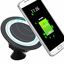 Qi Wireless Charger Dock 360 Rotating Mount Car Holder Charging Pad