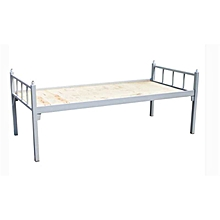Single layer steel bed, school bed, student dormitory bed, hospital bed, Dimension 200*90*75cm