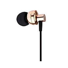 SUR S808 HiFi In-ear 3.5MM Plug Stereo Music Earphones With Mic - Golden