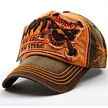Unisex Cotton Washed Skeleton Embroidery Baseball Cap Vintage Skull Adjustable Golf Snapback Hat