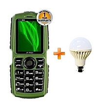S23 Mini - Torch - Speaker - Green, Get One Free LED Bulb 3W - Green