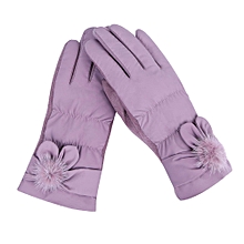 Africanmall store Womens Windproof Gloves Winter Outdoor Sport Ski Gloves-Purple