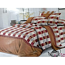 Multicolour Duvet Cover with 2 Pillow cases and one Bedsheet