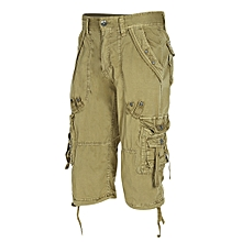 Outdoor Zipper Fly Multi-pocket Men Loose Beach Shorts