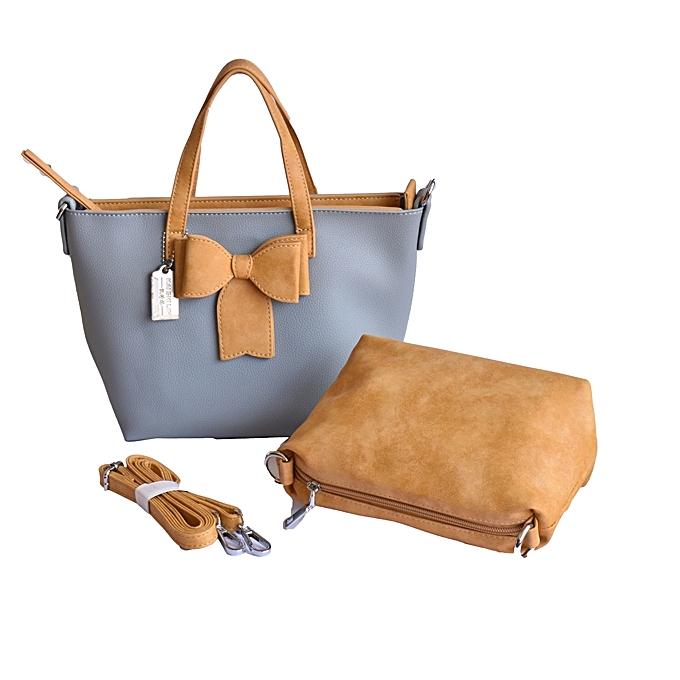 8552d7ae9da Buy Generic Stylish Women s Shoudlerbag with Purse, Light Blue Beige ...