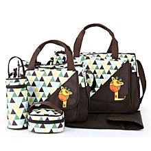 Cute new design 5in1  Diaper Bag Nappy Changing Pad waterproof Travel  Bag- Brown