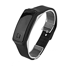 Super Lightweight LED Touch Sport Running Soft Silicone Smart Wristaband black