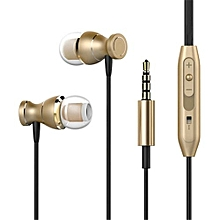 Earphone Headset In-line Control Magnetic Clarity Stereo Sound With Mic Earphones For IPhone Mobile Phone MP3 MP4 Gold