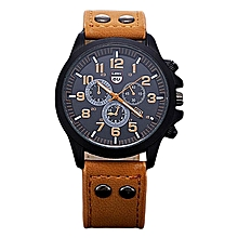 Vintage Classic Mens Waterproof Date Leather Strap Sport Quartz Army Watch BW