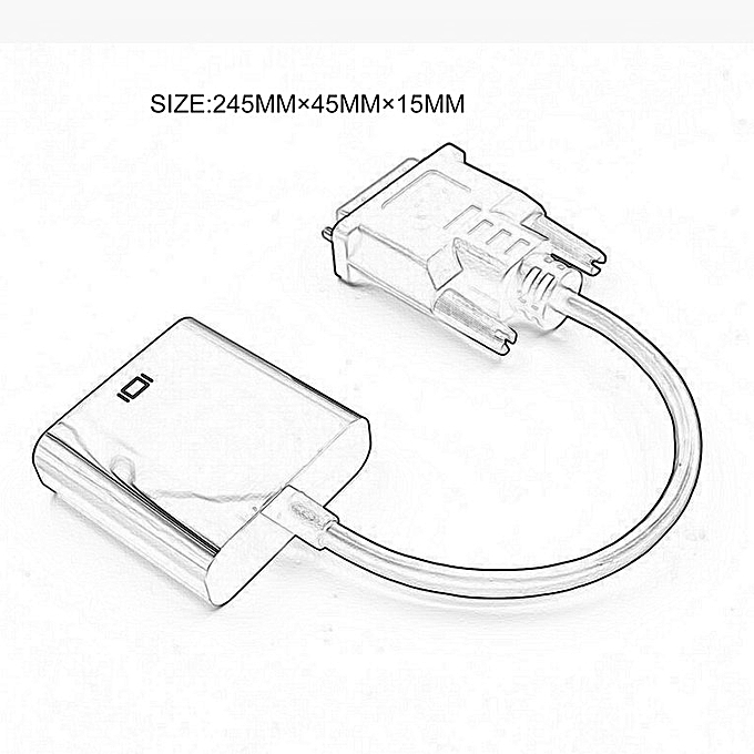 Generic Hp Dvi To Vga Adapter 1080p Dvi D Cable Male Female Video